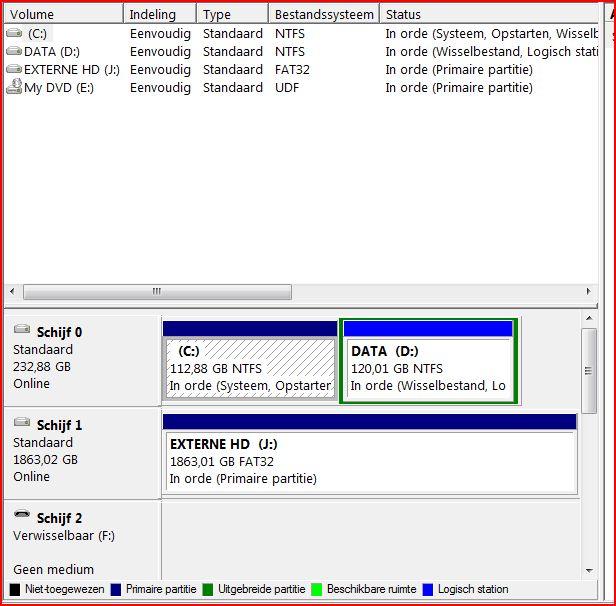 Externe harddisk aangeschaft archief windows algemeen pc helpforum - Externe verwijderbare partitie ...
