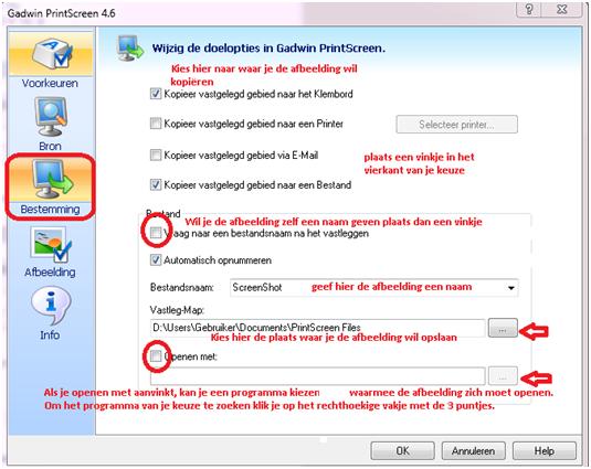 Gadwin PrintScreen - handleiding - Software - PC Helpforum