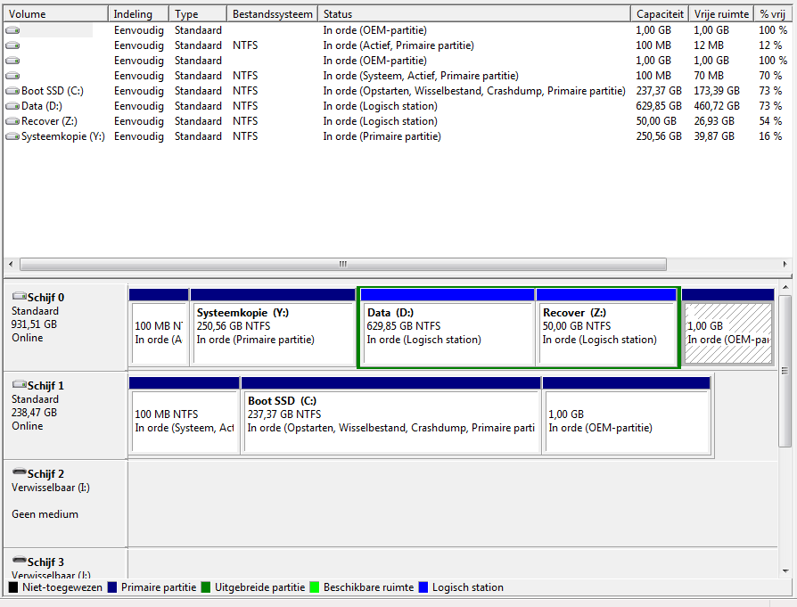 Externe harddisc werkt niet met windows 10 archief windows 10 pc helpforum - Externe verwijderbare partitie ...