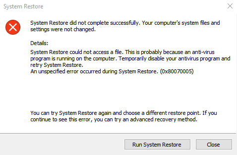 Restore failure.png